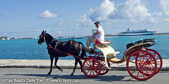 Horse and buggy in Zante Town